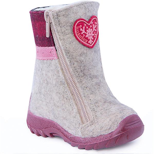 Валенки для девочки КотофейВаленки<br>Валенки для девочки  от известного российского бренда Котофей<br><br>Теплые и удобные валенки помогут защитить детские ножки от сырости и холода. Они легко надеваются, комфортно садятся по ноге.<br><br>Особенности модели: <br><br>- цвет - серый;<br>- стильный дизайн;<br>- нашивка в виде сердечка;<br>- защита пятки и пальцев;<br>- удобная колодка;<br>- подкладка утепленная;<br>- вид крепления – клеевой;<br>- амортизирующая подошва;<br>- застежка - молния.<br><br>Дополнительная информация:<br><br>Температурный режим: <br><br>от 0° С до -25° С<br><br>Состав:<br>верх – войлок;<br>подкладка - шерстяной мех;<br>подошва - ТЭП.<br><br>Валенки для девочки Котофей можно купить в нашем магазине.<br>Ширина мм: 257; Глубина мм: 180; Высота мм: 130; Вес г: 420; Цвет: серый; Возраст от месяцев: 18; Возраст до месяцев: 21; Пол: Женский; Возраст: Детский; Размер: 23,22,21,24; SKU: 4315219;