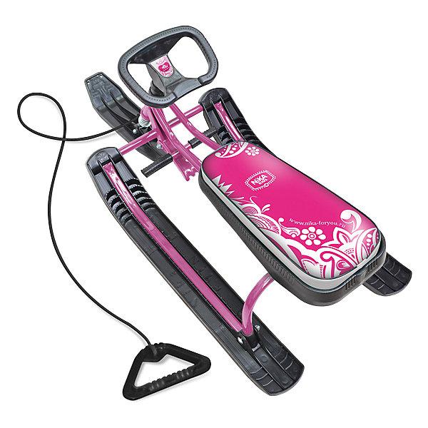 Купить Снегокат Nika-Kids Тимка Спорт 1 Пинк, розовый, Россия, Женский