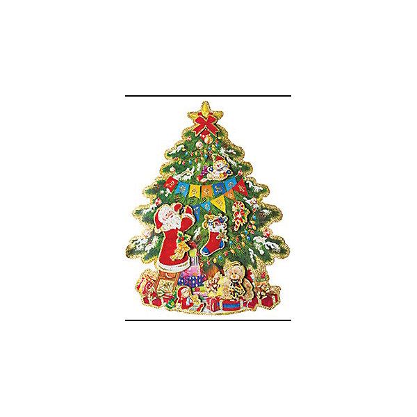 Наклейка Новогодняя елочка, 3D, 41*31смНовогодние наклейки на окна<br>Характеристики:<br><br>• возраст: от 3 лет;<br>• тип игрушки: оконное украшение;<br>• материал: ПВХ (поливинилхлорид) пленка;<br>• размер: 41х0,5х31 см;<br>• вес: 60 гр;<br>• бренд: Marko Ferenzo;<br>• тип упаковки: пакет.<br><br>Новогоднее оконное украшение «Новогодняя елочка» 3D от бренда Marko Ferenzo – это оригинальный подарок, который станет украшением интерьера любого дома. Яркие изображения нанесены на прозрачную пленку и крепятся к гладкой поверхности стекла посредством статического эффекта. По этому после окончания праздников украшение будет легко снять. <br><br>На рисунке изображена большая новогодняя елка с украшениями, подарками и Дедом Морозом. Наклейки для декорирования отдельных предметов и интерьера для создания праздничной атмосферы станут отличным дополнением к украшению интерьера. С помощью этих украшений вы сможете оживить интерьер по своему вкусу. Новогодние украшения всегда несут в себе волшебство и красоту праздника и создадут в доме праздничную атмосферу.<br><br>Украшение изготовлено из безопасных для здоровья материалов. По этому его смело можно давать детям от двух лет.<br><br>Новогоднее оконное украшение «Новогодняя елочка» можно купить в нашем интернет-магазине.<br>Ширина мм: 410; Глубина мм: 5; Высота мм: 310; Вес г: 60; Возраст от месяцев: 36; Возраст до месяцев: 2147483647; Пол: Унисекс; Возраст: Детский; SKU: 4319561;