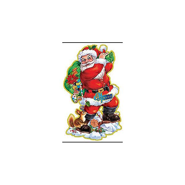 Наклейка Дед Мороз с подарками, 3D, 66*40смНовогодние наклейки на окна<br>Характеристики:<br><br>• возраст: от 3 лет;<br>• тип игрушки: оконное украшение;<br>• материал: ПВХ (поливинилхлорид) пленка;<br>• размер: 40х66х1,5 см;<br>• вес: 47 гр;<br>• бренд: Marko Ferenzo;<br>• тип упаковки: пакет.<br><br>Новогоднее оконное украшение «Дед Мороз с подарками» 3D от бренда Marko Ferenzo – это оригинальный подарок, который станет украшением интерьера любого дома. Яркие изображения нанесены на прозрачную пленку и крепятся к гладкой поверхности стекла посредством статического эффекта. По этому после окончания праздников украшение будет легко снять. <br><br>На рисунке изображен Дедушка Мороз и его новогодние подарки. Наклейки для декорирования отдельных предметов и интерьера для создания праздничной атмосферы станут отличным дополнением к украшению интерьера. С помощью этих украшений вы сможете оживить интерьер по своему вкусу. Новогодние украшения всегда несут в себе волшебство и красоту праздника и создадут в доме праздничную атмосферу.<br><br>Украшение изготовлено из безопасных для здоровья материалов. По этому его смело можно давать детям от двух лет.<br><br>Новогоднее оконное украшение «Дед Мороз с подарками» можно купить в нашем интернет-магазине.<br>Ширина мм: 400; Глубина мм: 660; Высота мм: 15; Вес г: 47; Возраст от месяцев: 36; Возраст до месяцев: 2147483647; Пол: Унисекс; Возраст: Детский; SKU: 4319566;