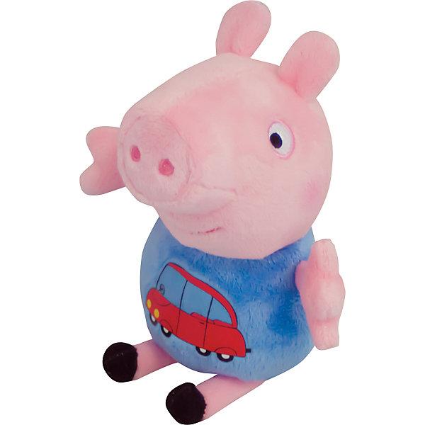 Росмэн Мягкая ирушка Джордж с машинкой, 18 см, Свинка Пеппа мягкая игрушка свинка росмэн свинка пеппа джордж морячок плюш текстиль пластик розовый 25 см