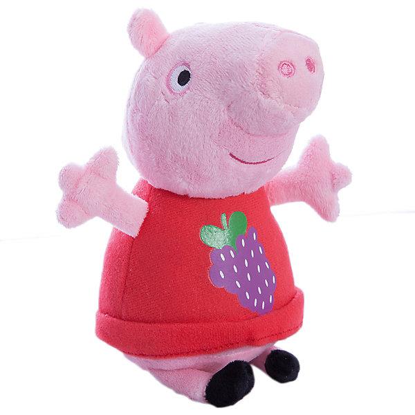 Росмэн Мягкая игрушка Пеппа с виноградом, 20 см, Свинка Пеппа мягкие игрушки peppa pig мягкая игрушка пеппа с игрушкой 40 см свинка пеппа