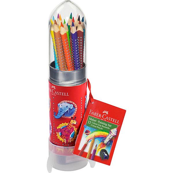 Faber-Castell Карандаши цветные Faber-Castell Grip, 12 цветов