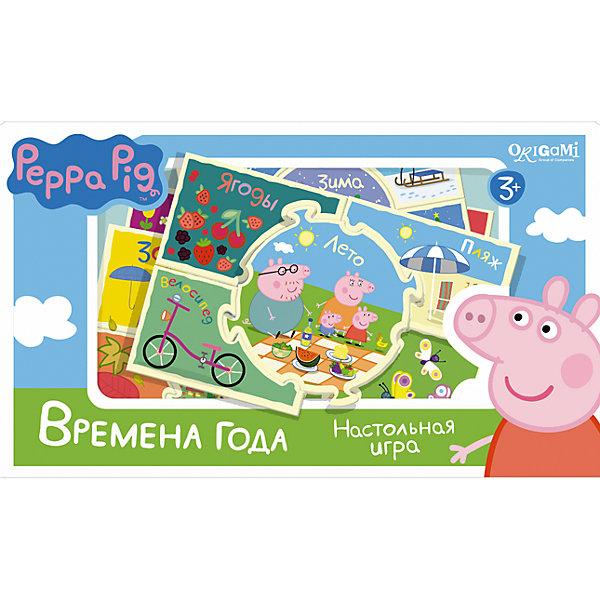 Игра Времена года , Свинка ПеппаОкружающий мир<br>Игра Времена года , Свинка Пеппа – это интересная настольная игра, которая увлечет вашего малыша и познакомит его с временами года.<br>В замечательной игре Времена года ребят ждет встреча со Свинкой Пеппа и ее друзьями. В комплекте четыре набора пазлов: Зима, Весна, Лето и Осень. В игре два вида пазлов - серединка и уголки. Из четырех пазлов-уголков и одного пазла-серединки складывается картинка. Получается либо Зима, либо Весна, либо Осень, либо Лето. Все карточки снабжены пазловыми замками. В процессе игры расскажите ребенку о временах года, природных явлениях, происходящих в разное время года и праздниках, соответствующих тому или иному времени года.<br><br>Дополнительная информация:<br><br>- В наборе: 20 карточек с пазловыми замками<br>- Материал: картон<br>- Размер коробки: 22x20x5 мм.<br>- Вес: 175 гр.<br><br>Игру Времена года , Свинка Пеппа можно купить в нашем интернет-магазине.<br>Ширина мм: 220; Глубина мм: 200; Высота мм: 50; Вес г: 175; Возраст от месяцев: 36; Возраст до месяцев: 96; Пол: Унисекс; Возраст: Детский; SKU: 4335018;