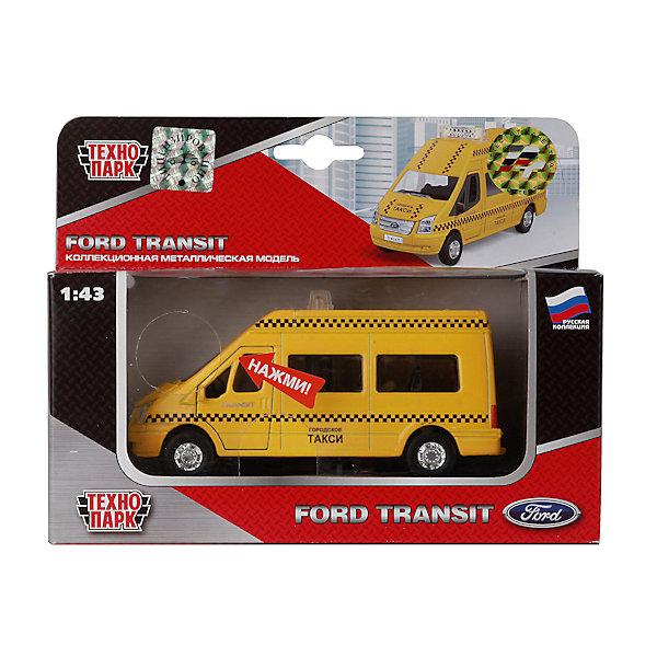 ТЕХНОПАРК Машина Ford Transit Такси , с открывающимися дверями, светом и звук ом, ТЕХНОПАРК машина авто по русски такси 10104апр