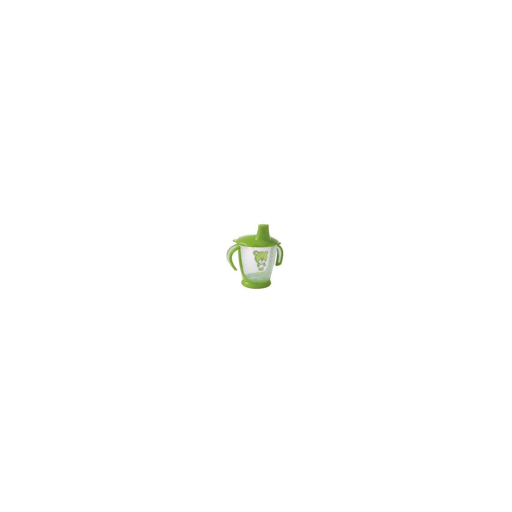 Поильник-непроливайка Медвежонок, 250 мл., Canpol Babies, зеленый
