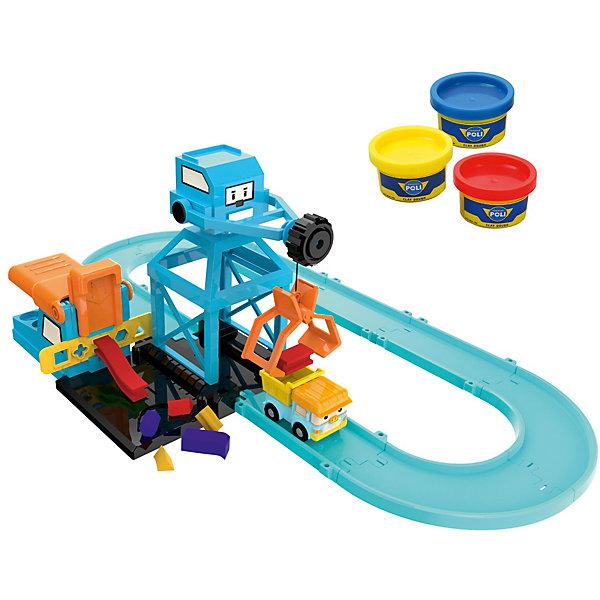 Silverlit Набор Цементный завод, Робокар Поли набор игровой для мальчика poli цементный завод