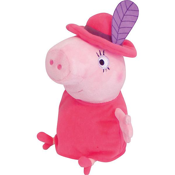 Мягкая игрушка Мама в шляпе, 30 см, Свинка ПеппаМягкие игрушки из мультфильмов<br>Маленьким поклонникам Свинки Пеппы не придется скучать с мягкой игрушкой в виде Мамы Свинки в очаровательной шляпе с «пером», как в мультфильме. С ней можно задорно играть, ее приятно обнимать, а спать, обнимая любимую героиню мультфильма, – одно удовольствие: все сны сразу становятся сладкими и безмятежными. А если приобрести другие игрушки из серии «Peppa Pig», то малыши смогут придумывать множество своих собственных историй о приключениях Свинки Пеппы, ее семьи и друзей.<br><br>Дополнительная информация:<br><br>Мягкая игрушка «Мама в шляпе» имеет высоту 30 см (размер указан с ножками) и очень приятна на ощупь, так как изготовлена из нежной велюровой ткани и плотно набита. <br>Глазки, носик и ротик Мамы Свинки выполнены в виде плотной вышивки. Платье и шляпа несъемные.<br><br>Мягкую игрушку Мама в шляпе, 30 см, Свинка Пеппа можно купить в нашем магазине.<br>Ширина мм: 210; Глубина мм: 190; Высота мм: 300; Вес г: 250; Возраст от месяцев: 36; Возраст до месяцев: 72; Пол: Унисекс; Возраст: Детский; SKU: 4346599;