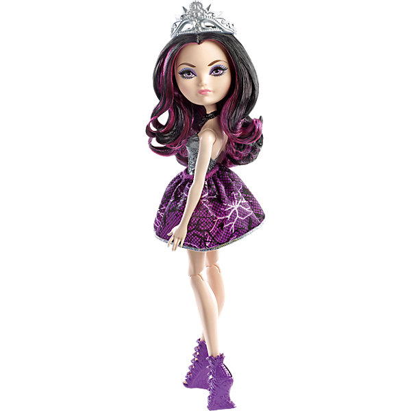 КуклаРэйвен Квин,  Ever After HighКуклы<br>Кукла Рэйвен Квин, Ever After High, Mattel - оригинальная стильная кукла, которая порадует девочек любого возраста. В необычной школе Ever After High (Долго и счастливо) учатся дети известных сказочных персонажей, перед всеми из них стоит выбор - продолжить ли жизнь своих родителей или заниматься делом, которое им по душе. Таким образом, дети делятся на два лагеря Royal (наследники), которых устраивает привычная жизнь их родителей и Rebel (отступники), которые выбирают в жизни свой собственный путь. <br><br>Несмотря на все свои  различия наследники и отступники хорошие друзья и любят проводить время вместе. Рэйвен Квин (Raven Queen), дочь Злой королевы, вовсе не хочет вести образ жизни своей матери и раздумывает отказаться от судьбы, решенной за нее. У куклы длинные черные волосы с розовыми прядями, которые можно укладывать в различные прически и красивое личико со стильным макияжем. Рэйвен одета в роскошное платье с сиреневой юбкой и обтягивающим лифом серебристого цвета. Наряд дополняют изящные босоножки в тон платья, черное ожерелье и серебристая диадема. Тело куколки на шарнирах, ноги и руки сгибаются и разгибаются, благодаря чему она может принимать различные положения. Кукла не может стоять самостоятельно.<br><br>Дополнительная информация:<br><br>- Материал: пластик, текстиль.<br>- Высота куклы: 30 см. <br>- Размер упаковки: 32,5 x 10 x 5,5 см. <br>- Вес: 0,205 кг. <br><br>Куклу Рэйвен Квин, Ever After High (Эвер Афтер Хай), Mattel, можно купить в нашем интернет-магазине.<br>Ширина мм: 330; Глубина мм: 109; Высота мм: 63; Вес г: 193; Возраст от месяцев: 72; Возраст до месяцев: 120; Пол: Женский; Возраст: Детский; SKU: 4349959;