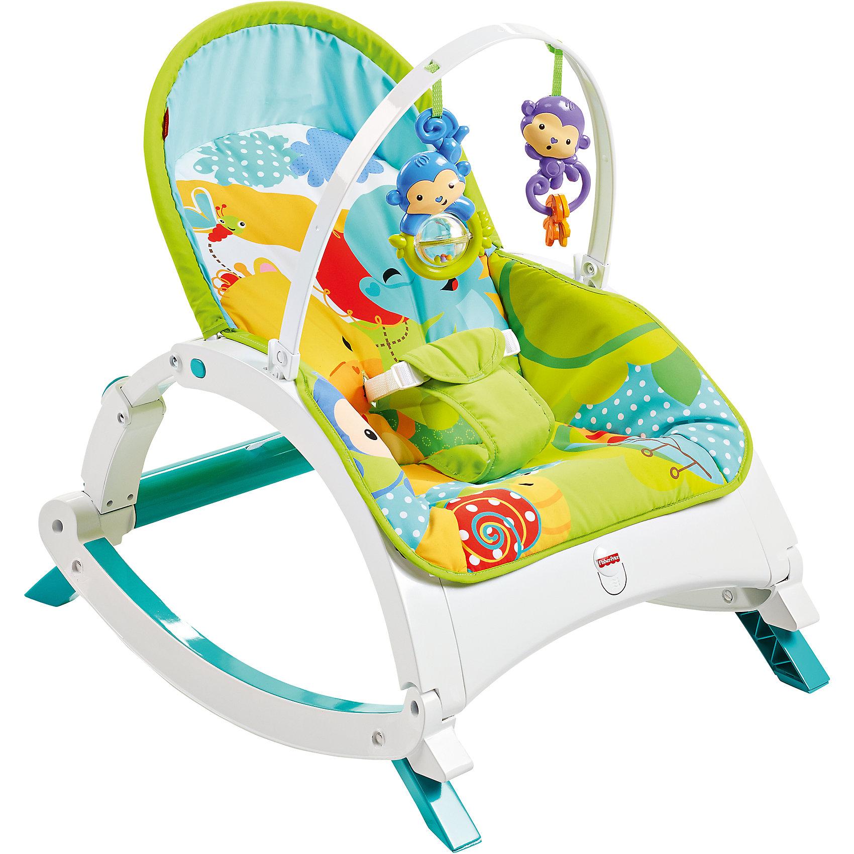 Кресло-качалка Друзья из тропического леса, Fisher-Price (Mattel)