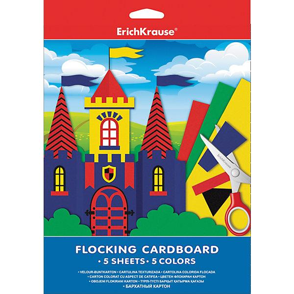 Бархатный картон А4 (5 листов, 5 цветов)Цветная бумага и картон<br>Бархатный картон идеально подходит для оригинальных красочных и объемных поделок. Он имеет бархатистую структуру, приятную наощупь,  отлично дополняет любую работу, придавая ей особый, торжественный вид.<br><br>Дополнительная информация:<br><br>- Материал: бумага, картон.<br>- Формат: А4.<br>- Количество листов: 5<br>- Количество цветов: 5<br><br>Бархатный картон А4 (5 листов, 5 цветов) можно купить в нашем магазине.<br>Ширина мм: 210; Глубина мм: 280; Высота мм: 5; Вес г: 128; Возраст от месяцев: 36; Возраст до месяцев: 108; Пол: Унисекс; Возраст: Детский; SKU: 4379664;