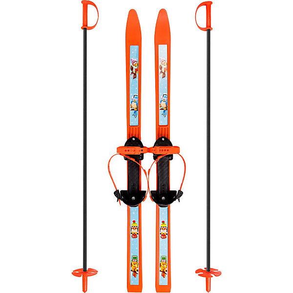 Цикл Лыжи детские Вираж-спорт с палками, Цикл цикл палки лыжные с рисунком 100 см цикл