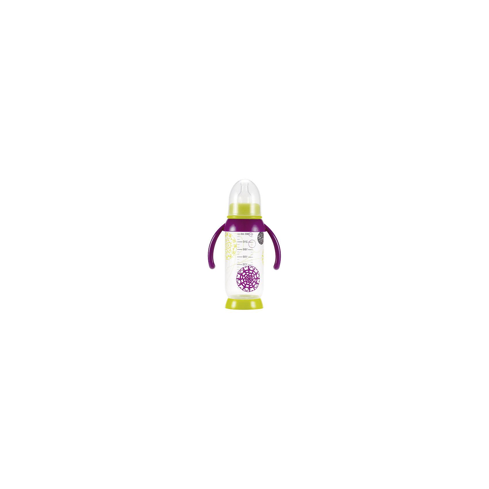 Бутылочка с ручками 240мл B.BOTTLE+HANDLES T, Beaba, в ассорт. (BEABA)