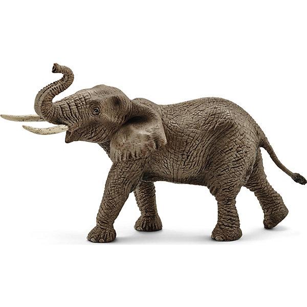 Schleich Коллекционная фигурка Schleich Дикие животные Африканский слон, самец schleich фигурка горилла самец 14770