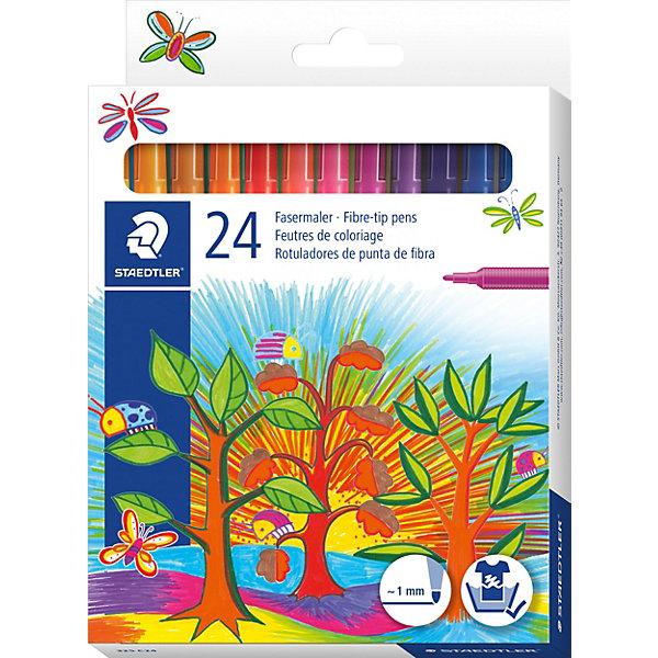 Купить Набор фломастеров Noris Club, 24 цвета, Staedtler, Италия, Унисекс