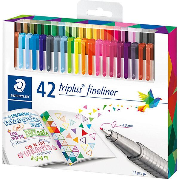 Купить Набор капиллярных ручек Triplus, 42 цвета, яркие цвета, Staedtler, Германия, Унисекс