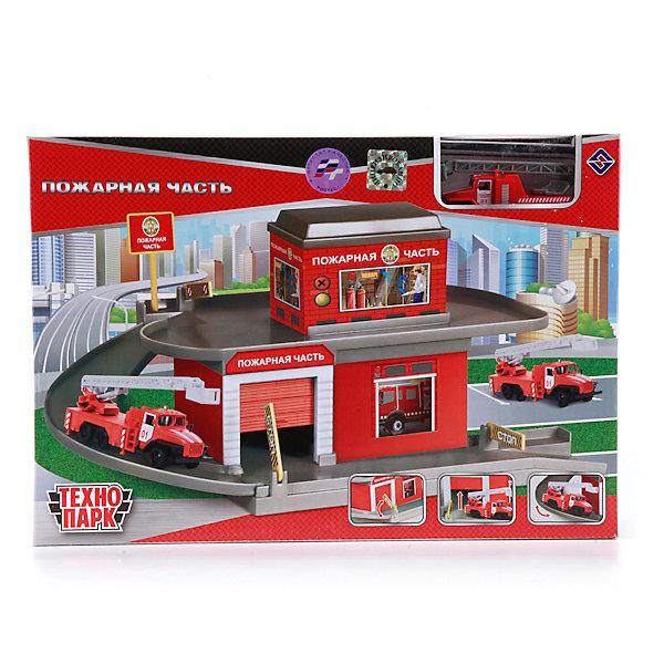 Гараж-паркинг Пожарная часть с  машинкой, ТехнопаркПарковки и гаражи<br>Характеристики:<br><br>• тип игрушки: гараж;<br>• возраст: от 3 лет;<br>• размер: 23х34х8 см;<br>• материал: металл, пластик;<br>• бренд: Технопарк;<br>• страна производителя: Китай.<br><br>Гараж-паркинг Технопарк «Пожарная часть с  машинкой» состоит из ярких аксессуаров для сборки и игры в пожарную часть: здание с 2 этажами, съездом и гаражом, а также модели пожарной машины.  Составляющие из комплекта дополнены декоративными наклейками с надписями. Машинка дополнена поднимающейся лестницей на корпусе и имеет удобные колесики, поэтому может имитировать процесс съезда. Съезд для машинки дополнен поднимающимися шлагбаумами.<br>Тематические игры с интересными сюжетами разбудят воображение ребёнка, а манипуляции с игрушкой потренируют мелкую моторику пальцев рук. Масштабные модели от компании «Технопарк» отличаются качественными ударопрочными материалами, продлевающими долговечность изделия тщательным исполнением со вниманием ко всем деталям, и имеют требуемые сертификаты соответствия для детских игрушек.<br>Гараж-паркинг Технопарк «Пожарная часть с  машинкой»  можно купить в нашем интернет-магазине.<br>Ширина мм: 710; Глубина мм: 680; Высота мм: 350; Вес г: 490; Возраст от месяцев: 36; Возраст до месяцев: 84; Пол: Мужской; Возраст: Детский; SKU: 4408249;