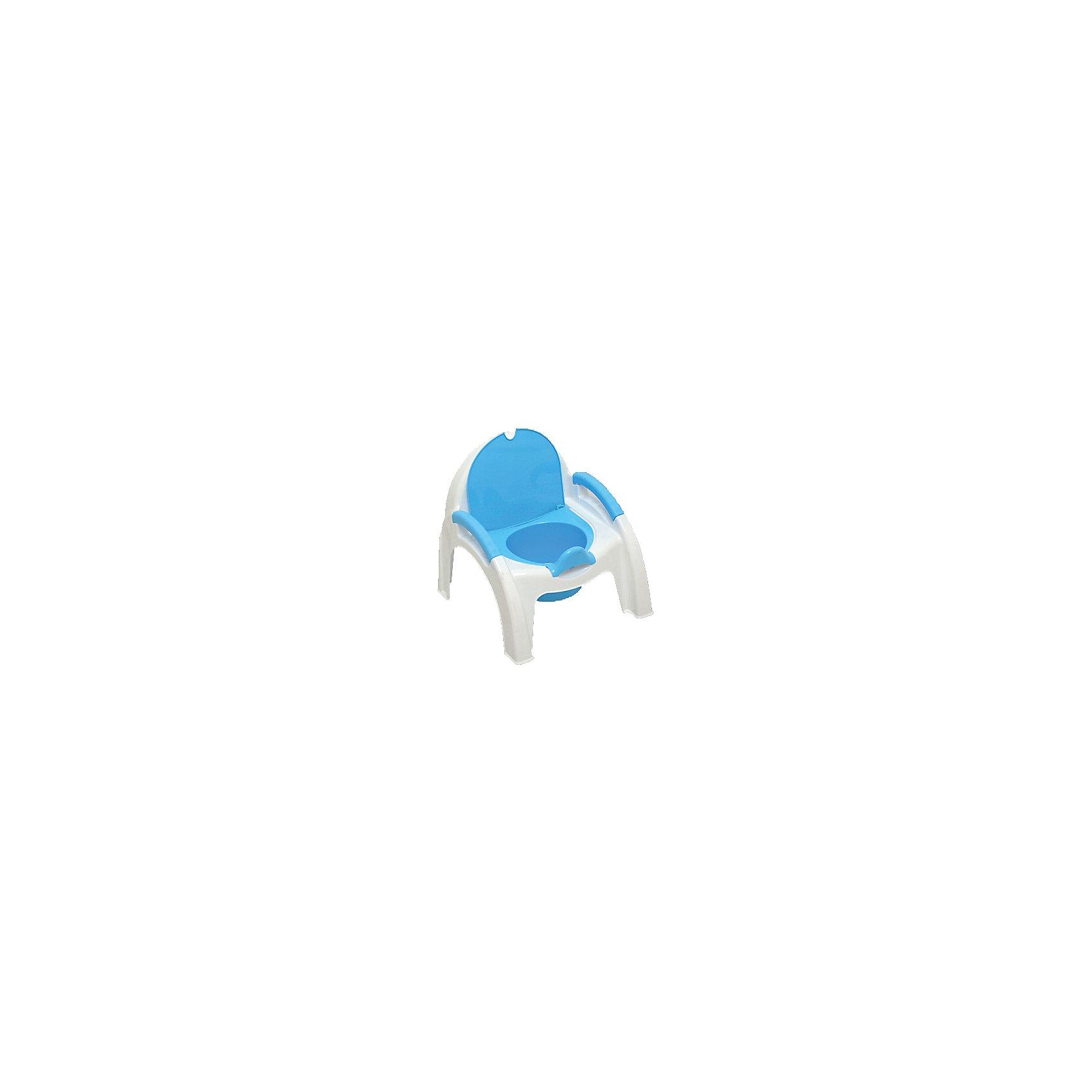 Горшок-стульчик Маша и Медведь, Пластишка, голубой