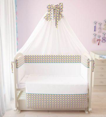 Комплект в кроватку 7 предметов Фея, Конфетти, артикул:4413673 - Детский текстиль