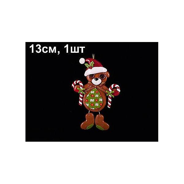 Елочное украшение Fairy Tale мишка, 13см, коричнево-зеленыйЁлочные игрушки<br>Характеристики:<br><br>• тип игрушки: елочное украшение;<br>• цвет: зеленый;<br>• размер: 14х2х10 см;<br>• бренд: Marko Ferenzo;<br>• возраст: от 3 лет;<br>• вес: 41 гр;<br>• материал: пластик.<br><br>Елочное украшение «FAIRY TALE» мишка  13см станет отличным дополнением к новогодним украшениям елки или интерьера дома к праздникам. Такое украшение станет актуальным подарком, который позволит заранее подготовиться к празднованию Нового года. С помощью него ребенок сможет сам поучаствовать в подготовке к празднику и украсить дом.<br><br>Эту игрушку может использовать ребенок от трех лет. Елочное украшение от бренда Marko Ferenzo представляет собой мишку, выполненного в коричнево-зеленом цвете.  Игрушка очень утонченная и выгодно оттеняет все остальные украшения на елке. Особенно красоту игрушки будут подчеркивать светящиеся электрические гирлянды. Игрушка изготовлена из пластика. Размер – 13 см.<br><br>Все элементы хорошо приклеены друг к другу качественным клеем и не оторвутся. Такую игрушку можно использовать для украшения новогодней елки или как элемент декора. Использование таких игрушек позволяет ребенку проявить свои творческие способности, пофантазировать или раскрыть талант. Все элементы являются абсолютно безопасными для ребенка и изготовлены из высококачественных материалов.<br><br>Елочное украшение «FAIRY TALE» мишка  13см  можно купить в нашем интернет-магазине.<br>Ширина мм: 140; Глубина мм: 20; Высота мм: 100; Вес г: 41; Возраст от месяцев: 36; Возраст до месяцев: 2147483647; Пол: Унисекс; Возраст: Детский; SKU: 4418917;