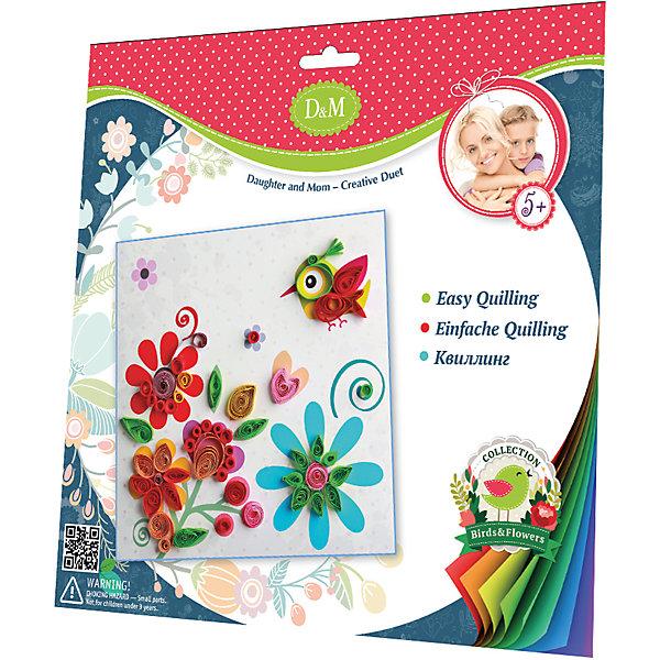 Делай с Мамой Набор для квиллинга Цветы и птицы