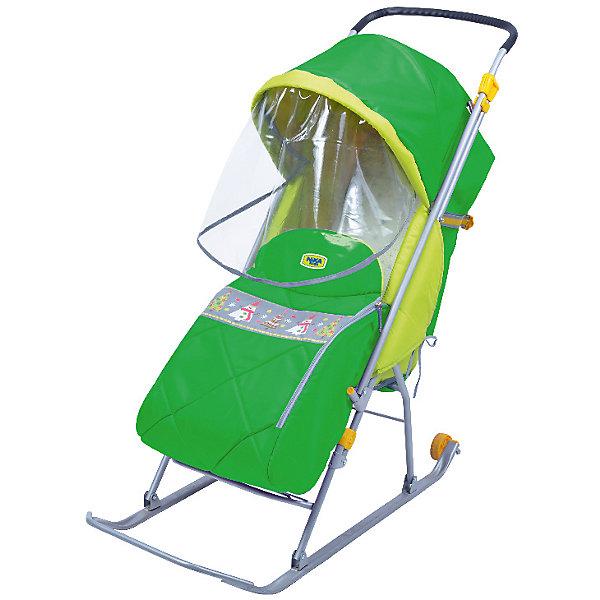 Санки-коляска Ника  Тимка Люкс, зеленый от Nika-Kids