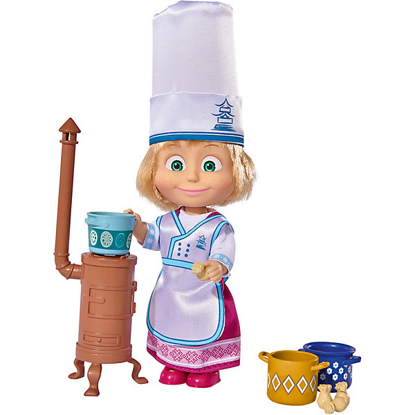 Simba Мини-кукла Simba Маша и Медведь Маша в одежде повара, 12 см ткачук а ред маша самая модная кукла 32 наряда собери коллекцию все наряды подходят для любой куклы этой коллекции