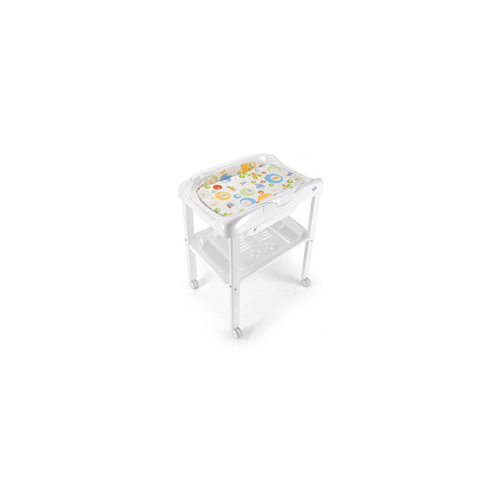 Пеленальный столик GigiLele, Pali, белый/мандарин