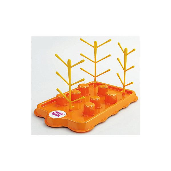 Поднос-сушилка для бутылочек и сосок, Bibosec, Ok Baby, оранжевыйБутылочки и аксессуары<br>Детскую посуду лучше сушить отдельно от взрослой. Сушилка для бутылочек предназначена для устранения лишней влаги с баночек, бутылочек и сосок после их мытья. Изделие выполнено из высококачественного безопасного для детей пластика, может одновременно держать до 8 предметов.<br><br>Дополнительная информация:<br><br>- Материал: пластик.<br>- Размер: 20х18х32 см.<br>- Может держать до 8 предметов одновременно. <br>- Допускается мыть в посудомойке.<br><br>Поднос-сушилку для бутылочек и сосок, Bibosec, Ok Baby, оранжевый, можно купить в нашем магазине.<br>Ширина мм: 220; Глубина мм: 180; Высота мм: 200; Вес г: 300; Возраст от месяцев: 0; Возраст до месяцев: 36; Пол: Унисекс; Возраст: Детский; SKU: 4443714;