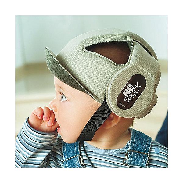 Противоударный шлем No Shock, Ok Baby, бежевыйЗащита малыша<br>Противоударный шлем No Shock защитит голову малыша во время падений, обеспечив комфорт и безопасность в любой ситуации. Дополнительную защиту в области носа создает  козырек. Мягкий ремешок не натирает шею. Внутреннее покрытие шлема выполнено из специального мягкого полотна, обработанного методом Sanitized, предотвращающим образование плесени и бактерий. <br><br>Дополнительная информация:<br><br>- Материал: внешнее покрытие - 100% полиэфирная ткань; внутреннее покрытие - мягкая ткань. <br>- Размер головы: 44-52.<br>- Рекомендуемый возраст: от 8 до 36 месяцев.<br>- Козырек, защищающий нос.<br>- Можно стирать. <br>- Мягкий ремешок. <br>- Выдерживает до 10 кг. <br><br>Противоударный шлем No Shock, Ok Baby, бежевый, можно купить в нашем магазине.<br>Ширина мм: 150; Глубина мм: 130; Высота мм: 100; Вес г: 200; Возраст от месяцев: 6; Возраст до месяцев: 18; Пол: Унисекс; Возраст: Детский; SKU: 4443729;