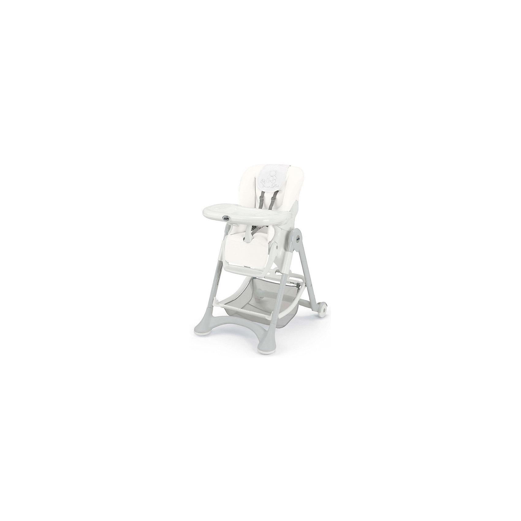 Стульчик для кормления Campione Elegant, CAM, White Leatherette