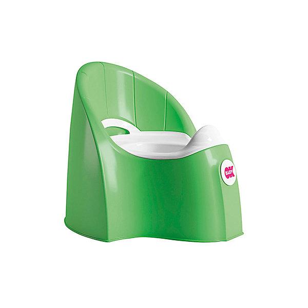 Горшок Pasha, Ok Baby, ярко-зеленыйДетские горшки и писсуары<br>Горшок имеет анатомическое сиденье и съемную емкость для удобной очистки. Яркий горшок со спинкой обязательно понравится ребенку и обеспечит ему максимальный комфорт, что является важным фактором в приучении ребенка к туалету. Изделие выполнено из высококачественного прочного пластика, для большей устойчивости оснащено антискользящей накладкой внизу.  <br><br>Дополнительная информация:<br><br>- Материал: пластик.<br>- Размер: 33,5 x 36,5 x 31 см.<br>- Съемная ёмкость.<br>- Удобная спинка.<br><br>Горшок Pasha, Ok Baby, зеленый, можно купить в нашем магазине.<br>Ширина мм: 365; Глубина мм: 335; Высота мм: 310; Вес г: 2500; Возраст от месяцев: 6; Возраст до месяцев: 36; Пол: Унисекс; Возраст: Детский; SKU: 4443775;