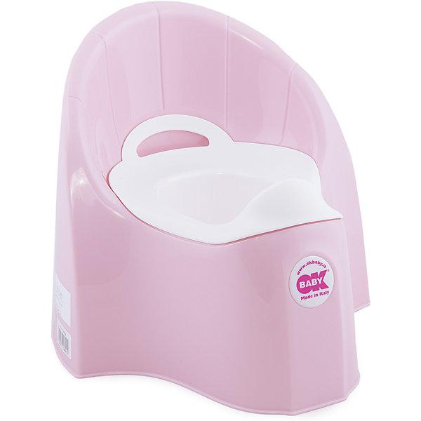Горшок Pasha, Ok Baby, светло-розовыйДетские горшки и писсуары<br>Горшок имеет анатомическое сиденье и съемную емкость для удобной очистки. Яркий горшок со спинкой обязательно понравится ребенку и обеспечит ему максимальный комфорт, что является важным фактором в приучении ребенка к туалету. Изделие выполнено из высококачественного прочного пластика, для большей устойчивости оснащено антискользящей накладкой внизу.  <br><br>Дополнительная информация:<br><br>- Материал: пластик.<br>- Размер: 33,5 x 36,5 x 31 см.<br>- Съемная ёмкость.<br>- Удобная спинка.<br><br>Горшок Pasha, Ok Baby, светло-розовый, можно купить в нашем магазине.<br>Ширина мм: 365; Глубина мм: 335; Высота мм: 310; Вес г: 2500; Возраст от месяцев: 6; Возраст до месяцев: 36; Пол: Унисекс; Возраст: Детский; SKU: 4443780;