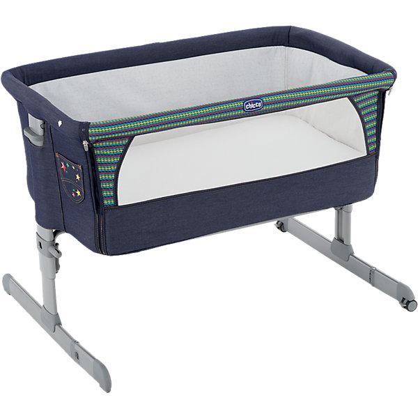 Кроватка Next2me, Chicco, denimКолыбели-люльки для новорожденных<br>Практичная и безопасная функциональная кроватка от Chicco - идеальный вариант для малышей и их родителей. Кровать имеет безопасную систему крепления к кровати родителей и позволяет вам спать рядом с малышом, находясь при этом каждый на своей территории. Боковой бортик очень быстро отстегивается, мягкие стенки дают малышу чувства покоя и уюта. Прочная металлическая основа делает кровать практичной и долговечной. Для наибольшего комфорта ребенка кровать оснащена мягким матрасиком и сетчатыми вставками для вентиляции. <br><br>Дополнительная информация:<br><br>- Материал: пластик, текстиль.<br>- Размер: 66/81 x 93 x 69 см.<br>- Размер в сложенном виде: 95 x 15 см.<br>- Вес: 9 кг.<br>- Отстегивающийся бортик.<br>- Удобный матрас.<br>- Вставки из сетки для циркуляции воздуха. <br>- Высота регулируется. <br>- Крепится к кровати в помощью двух ремней. <br>- Максимальный вес ребенка: 9 кг. <br><br>Внимание! Основным является первое фото, последующие фотографии размещены с целью показать функционал данной модели.<br><br>Функциональную кроватку Next2me Denim, Chicco (Чикко), можно купить в нашем магазине.<br>Ширина мм: 945; Глубина мм: 600; Высота мм: 150; Вес г: 10300; Цвет: синий; Возраст от месяцев: 0; Возраст до месяцев: 6; Пол: Унисекс; Возраст: Детский; SKU: 4449674;