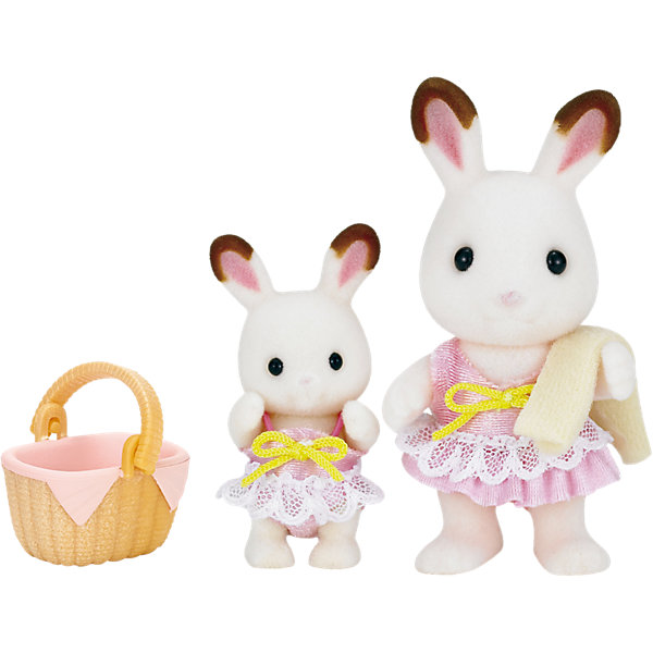 Набор Кролики в купальных костюмах , Sylvanian Families, Эпоха Чудес, Китай, Женский  - купить со скидкой