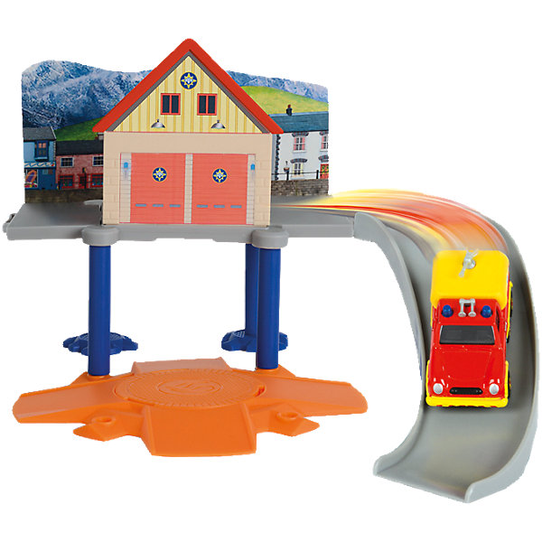 Dickie Toys Пожарный гараж с машинкой, Пожарный Сэм, Dickie
