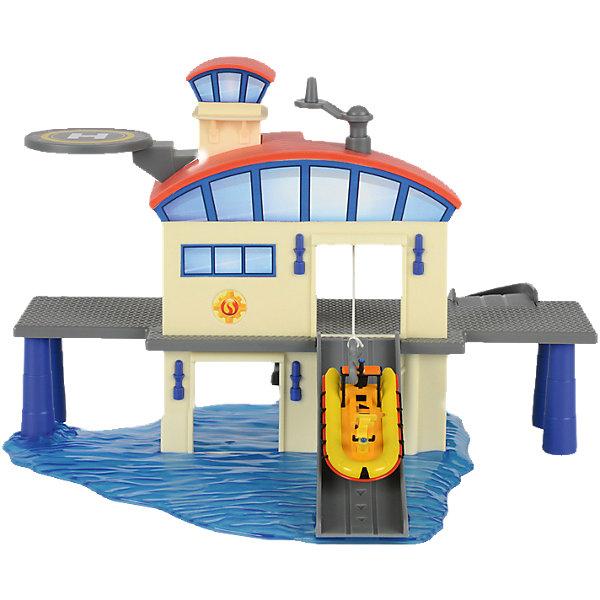 Dickie Toys Морской гараж с лодкой, Пожарный Сэм, Dickie