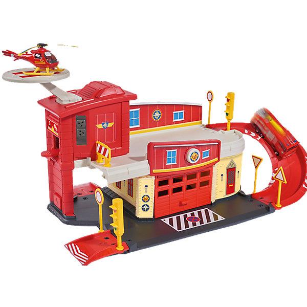 Пожарный гараж с вертолетом, Пожарный Сэм, DickieПарковки и гаражи<br>Пожарный гараж с вертолетом, Пожарный Сэм, Dickie (Дики) – набор, несомненно, придется по душе вашему мальчику и не позволит ему скучать.<br><br>Увлекательный игровой набор «Пожарный гараж с вертолетом» от Dickie (Дики) создан по мотивам мультфильма «Пожарный Сэм». Он представляет собой двухэтажную пожарную станцию. Пожарный гараж оборудован спусками с бортиками для пожарных машин Сэма, вертолетной площадкой для удачного приземления вертолета, функцией запуска, которая позволят машинкам (машинки, приобретаются отдельно) буквально помчаться на вызов. Имеется кнопка для открытия двери гаража. <br><br>В набор входит металлический вертолет Helicopter. <br><br>Дополнительные аксессуары - светофор, пандусы, дорожные знаки - сделают сюжетно-ролевые игры еще веселее. <br>Дополнительная информация:<br><br>- В наборе: детали гаража, вертолет<br>- Размер собранного гаража: 62,5 x 24 x 19,5 см.<br>- Масштаб вертолета 1:64<br>- Материал: высококачественный пластик, металл<br>- Размер упаковки: 44 x 39 x 10 см.<br>- Вес: 1 кг.<br><br>Пожарный гараж с вертолетом, Пожарный Сэм, Dickie (Дики) можно купить в нашем интернет-магазине.<br>Ширина мм: 440; Глубина мм: 390; Высота мм: 100; Вес г: 1000; Возраст от месяцев: 36; Возраст до месяцев: 72; Пол: Мужской; Возраст: Детский; SKU: 4490485;