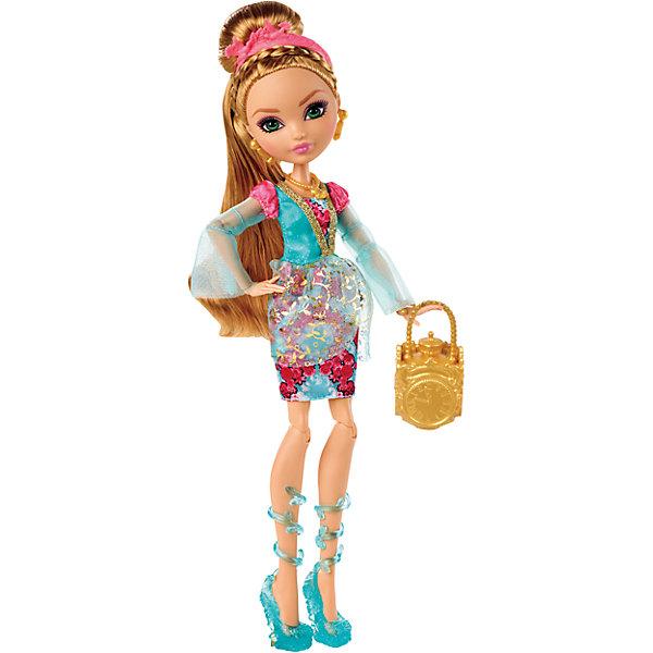 Кукла Эшлин Элл Главные герои, Ever After HighEver After High<br>Эшлин Элла - дочь Золушки, она такая же прекрасная как и ее мама и точно так же ждет чудес и счастливой любви! Девочка обожает всевозможную красивую обувь. Куколка имеет длинные рыжие волосы, одета в стильное платье, на ногах - миниатюрные босоножки. Образ дополняют розовый ободок и маленькая сумочка. Собери всех героев Ever After High (Школа Долго и счастливо) проигрывай любимые сцены из мультсериала или придумывай свои новые истории! <br><br>Дополнительная информация:<br><br>- Материал: пластик.<br>- Высота: 25 см.<br>- Голова, руки, ноги куклы подвижные. <br>- Комплектация: кукла в одежде и обуви, расческа, дневник, сумочка. <br><br>Куклу  Главные герои, Ever After High (Эвер Афтер Хай), можно купить в нашем магазине.<br>Ширина мм: 328; Глубина мм: 207; Высота мм: 66; Вес г: 301; Возраст от месяцев: 72; Возраст до месяцев: 120; Пол: Женский; Возраст: Детский; SKU: 4500803;