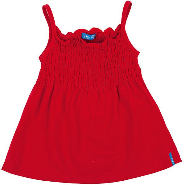 Топ для девочки Button BlueФутболки, поло и топы<br>Красный топ для девочки - отличное решение для каждого дня лета! Яркий цвет, модный силуэт, превосходный состав материала и доступная цена - ну что еще нужно для создания летнего настроения? Если вы хотите купить недорогой модный красный топ отменного качества, эта модель - то, что вы ищите.<br>Состав:<br>95% хлопок           5% эластан