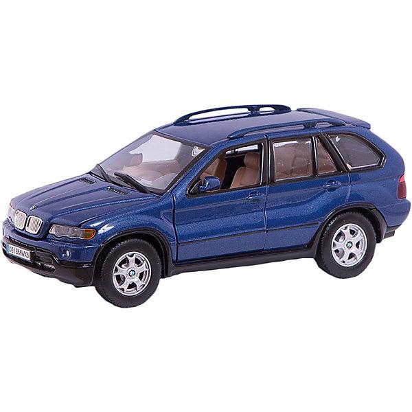 Машина BMW X5, 1:24Машинки<br>Большой, прекрасно детализированный автомобиль, приведет в восторг любого мальчишку! Машина выполнена в масштабе 1:24, имеет открывающиеся двери, багажник и капот; подвижные колеса. Кроме того, при производстве было тщательно проработано устройство двигателя и внутренняя отделка салона. Игрушка изготовлена из прочных высококачественных материалов безопасных для детей. Прекрасный подарок для юных автолюбителей! <br><br>Дополнительная информация:<br><br>- Материал: пластик, металл.<br>- Масштаб: 1:24.<br>- Колеса подвижные.<br>- Капот, двери, багажник открываются.<br>- Размер упаковки: 11 ? 24 ? 10 см. <br>• Внимание! Товар, нет возможности выбрать товар конкретной расцветки. При заказе нескольких штук возможно получение одинаковых.<br><br>Машину BMW X5, 1:24, можно купить в нашем магазине.<br>Ширина мм: 245; Глубина мм: 112; Высота мм: 102; Вес г: 692; Возраст от месяцев: 36; Возраст до месяцев: 84; Пол: Мужской; Возраст: Детский; SKU: 4515362;