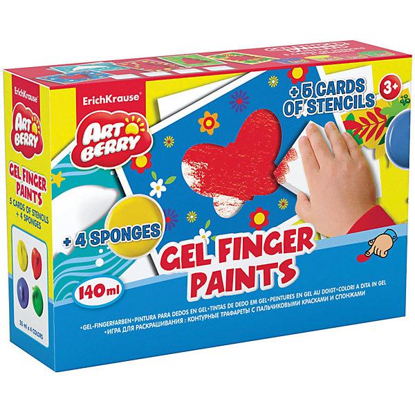 Пальчиковые краски с трафаретами и спонжами, ArtberryПальчиковые краски<br>Характеристики пальчиковых красок с трафаретами и спонжами, Artberry:<br><br>• возраст: от 3 лет<br>• пол: для мальчиков и девочек<br>• материал: картон, пластик, краска.<br>• размер упаковки: 13.5x19.5x5.6 см.<br>• упаковка: картонная коробка.<br>• бренд: Erich Krause<br>• страна обладатель бренда: Россия.<br><br>Пальчиковые краски Artberry - отличный набор для юных художников. Предназначается для мальчиков и девочек старше трех лет. Дети, обожающие рисовать, будут очень рады такому набору, так как в комплект входят четыре цвета красок, цветные контурные трафареты с различными изображениями и спонжи, что делает процесс рисования проще и интереснее.<br><br>Пальчиковые краски с трафаретами и спонжами, Artberry торговой марки Erich Krause можно купить в нашем интернет-магазине.<br>Ширина мм: 195; Глубина мм: 50; Высота мм: 135; Вес г: 950; Возраст от месяцев: 24; Возраст до месяцев: 120; Пол: Унисекс; Возраст: Детский; SKU: 4516981;