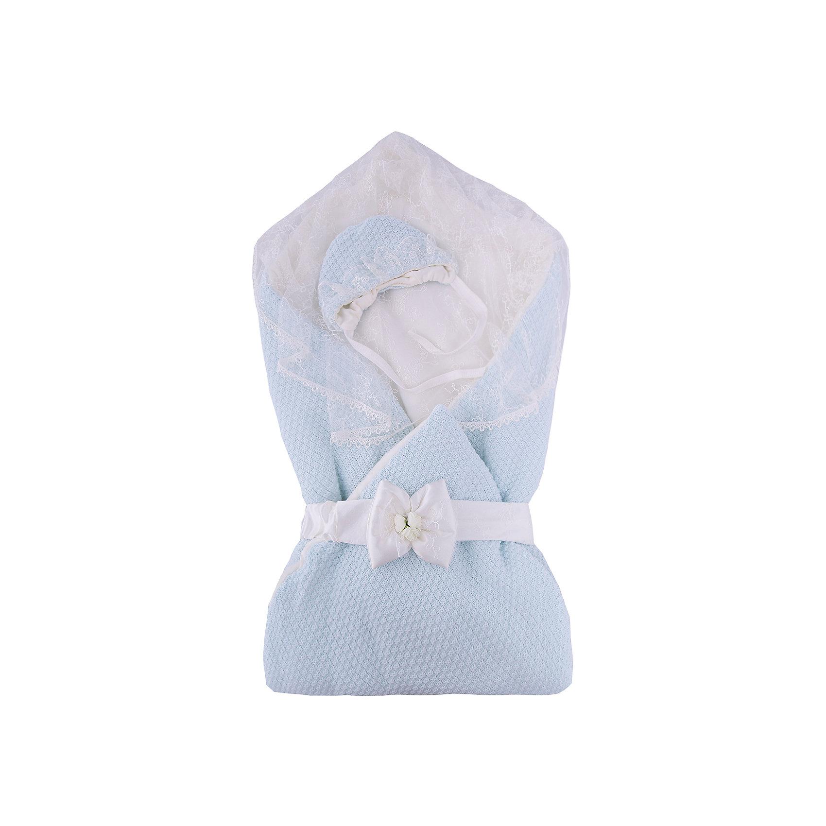 Конверт-одеяло на выписку Жемчужинка, Сонный гномик, голубой