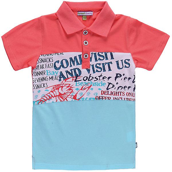 Футболка-поло для мальчика Sweet BerryФутболки, поло и топы<br>Яркая футболка-поло для мальчика. Поло яркого дизайна украшено ярким принтом.<br>Состав:<br>95% хлопок 5% эластан
