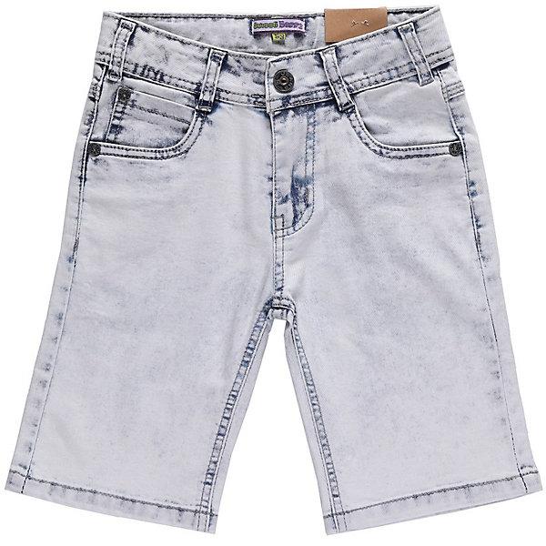 Бриджи джинсовые для мальчика Sweet BerryШорты, бриджи, капри<br>Джинсовые бриджи для мальчиков. Ткань имеет примесь эластана, поэтому они немнущиеся, легко стираются, не садятся. Однотонного голубого цвета с небольшими темными местами на швах. Штанины без подворотов. Такие бриджи - удобная и комфортная повседневная одежда в теплую пору года.<br>Состав:<br>98% хлопок, 2% эластан<br>Ширина мм: 191; Глубина мм: 10; Высота мм: 175; Вес г: 273; Цвет: голубой; Возраст от месяцев: 24; Возраст до месяцев: 36; Пол: Мужской; Возраст: Детский; Размер: 98,116,110,122,128,104; SKU: 4523013;