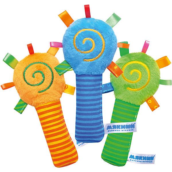 Игрушка ШуМякиши. Маракас, МякишиИгрушки для новорожденных<br>Мягкие ШуМякиши - это самые первые игрушки для малышей. Маракас сделан из разнофактурных материалов. Игрушка стимулирует тактильные навыки ребенка, работу зрительных и слуховых рецепторов. Развивает мелкую моторику, а яркие насыщенные цвета привлекают внимание. Эргономичная форма,  яркость, разнофактурные материалы, звуковые элементы способствуют двигательной и эмоциональной активности ребенка, формируют хватательный рефлекс и, конечно, дарят хорошее настроение. В производстве игрушки использованы только высококачественные гипоаллергенные материалы безопасные для детей. <br><br>Дополнительная информация:<br><br>- Материал: мех, хлопок 100%.<br>- Размер :17 х 8 см.<br>- Погремушка внутри.<br>- Хрустящая ручка.<br>- Цветные петельки.<br>- Разнофактурные материалы.<br>- Фирменная вышивка.<br>ВНИМАНИЕ! Данный артикул имеется в наличии в разных цветовых исполнениях. К сожалению, заранее выбрать определенный цвет невозможно. При заказе нескольких позиций возможно получение одинаковых.<br><br><br>Игрушку ШуМякиши. Маракас, Мякиши, можно купить в нашем магазине.<br>Ширина мм: 190; Глубина мм: 90; Высота мм: 40; Вес г: 100; Возраст от месяцев: 12; Возраст до месяцев: 36; Пол: Унисекс; Возраст: Детский; SKU: 4532677;