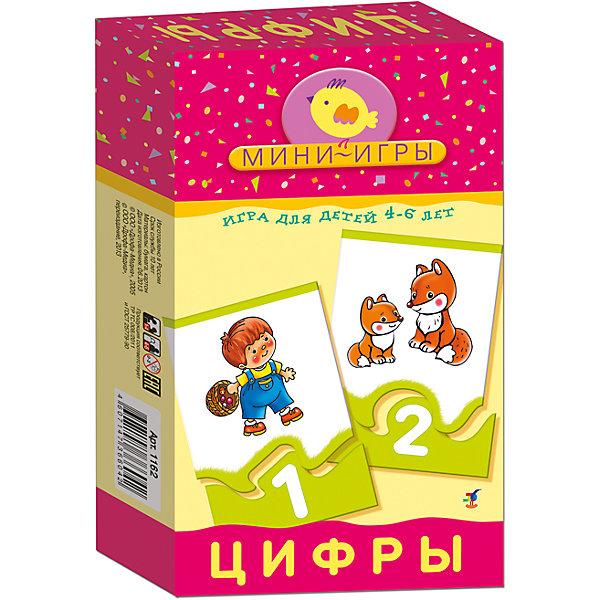Мини-игра Цифры, Дрофа-МедиаМатематика<br>Мини-игра Цифры, Дрофа-Медиа - красочное игровое пособие, которое познакомит Вашего ребенка с цифрами и числами первого десятка, поможет закрепить навыки устного счета и научит подбирать элементы, подходящие по форме. В комплекте 48 карточек, которые скрепляются между собой по принципу пазла, на одной части - количественное изображение предметов (например, 1 мишка, 2 волка, 3 ежика), на другой - цифры, а также 6 карточек с математическими знаками. Подробная инструкция предлагает два варианта игры с этими карточками. В первой игре В поисках числа малышу надо подобрать к каждому изображению число, показывающее, сколько предметов изображено. В игре Учимся считать ребенку предлагается сравнивать числа, самостоятельно составлять простые примеры на сложение и вычитание и решать их. В игре могут участвовать 1-4 игрока. Для детей 4-6 лет. Игра способствует развитию мелкой моторики, внимания, памяти и мышления.<br><br>Дополнительная информация:<br><br>- Серия: Мини-игры.<br>- В комплекте: 48 карточек, инструкция.<br>- Материал: бумага. картон.<br>- Размер упаковки: 20 x 12 x 3,5 см.<br>- Вес: 144 гр.<br><br>Мини-игру Цифры, Дрофа-Медиа, можно купить в нашем интернет-магазине.<br>Ширина мм: 120; Глубина мм: 200; Высота мм: 35; Вес г: 170; Возраст от месяцев: 48; Возраст до месяцев: 96; Пол: Унисекс; Возраст: Детский; SKU: 4533296;