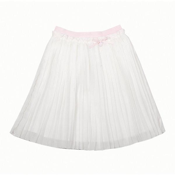 Юбка для девочки GulliverОдежда<br>Роскошная молочная юбка из гофрированного шифона не позволяет пройти мимо! Тонкая, легкая, воздушная, летняя нарядная юбка для девочки на подкладке из хлопка - яркий пример того, какой должна быть модная юбка сезона Весна/Лето 2016. Пояс юбки выполнен из нежной розовой резинки, что очень комфортно для ребенка. В оформлении модели изящная навесная деталь из репсовой ленты с брендированной металлической монеткой.<br>Состав:<br>верх:                        100% полиэстер;       подкл.:                    100% хлопок<br>Ширина мм: 207; Глубина мм: 10; Высота мм: 189; Вес г: 183; Цвет: бежевый; Возраст от месяцев: 132; Возраст до месяцев: 144; Пол: Женский; Возраст: Детский; Размер: 152,128,134,140,158,146; SKU: 4534420;