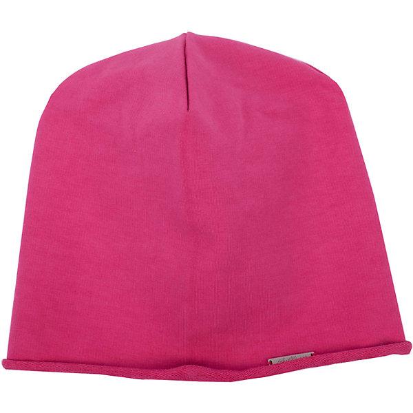 Шапка GulliverГоловные уборы<br>Трикотажная шапка для девочки - не только незаменимая функциональная вещь весеннего гардероба, но и яркий выразительный элемент образа! Шапка выполнена из яркого вареного футера с модным эффектом неравномерного крашения. В оформлении шапки деликатная фирменная металлическая накладка.<br>Состав:<br>95% хлопок      5% эластан