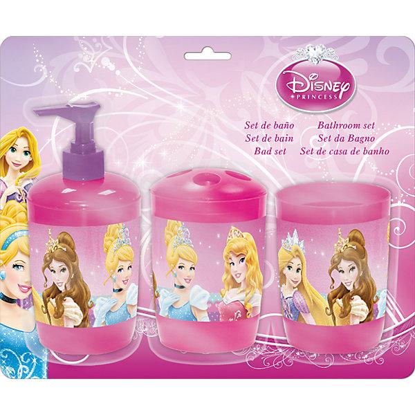 МФК-профит Набор для ванной Принцессы Дисней (3 предмета) мфк профит стакан с крышкой и трубочкой 450 мл принцессы дисней